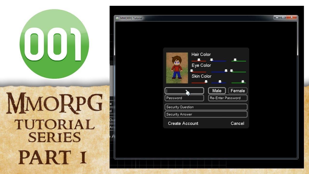 001 Game Creator Tutorial | MMORPG - Server Setup (Part 1/4)