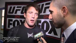 CHAEL SONNEN ANGRY GOES CRAZY WITH ARIEL HELWANI FOX 2 PRE FIGHT