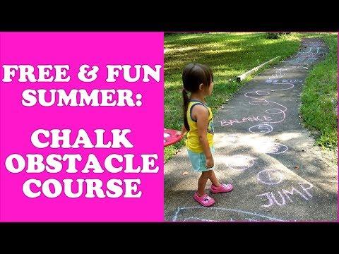 Free & Fun Summer Activities: Sidewalk Chalk Obstacle Course
