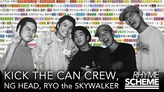 YouTube動画:よってこい(未発表曲) / KICK THE CAN CREW feat. NG HEAD, RYO the SKYWALKER(1999)  Japanese Hiphop Rhyme Scheme