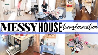 MESSY (ENTIRE) HOUSE CLEAN WITH ME | ULTIMATE CLEAN WITH ME 2019 | BEFORE & AFTER
