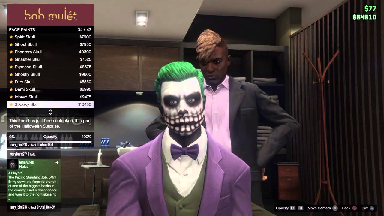 Gta  Sorrow Demon Face Paint
