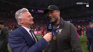 """Have you ever seen a team like this?!"" Jurgen Klopp reacts to winning the Champions League"