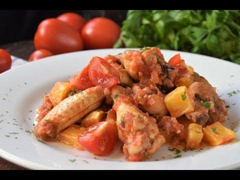 Pollo guisado con tomate DELICIOSO!!!