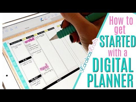 HOW TO GET STARTED WITH A DIGITAL PLANNER, ipad pro digital planner using GoodNotes