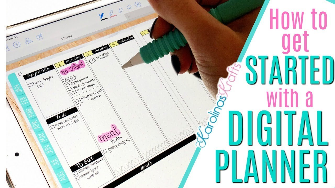 photograph about Digital Planners and Organizers identified as HOW Towards Buy Begun WITH A Electronic PLANNER, ipad expert electronic planner taking GoodNotes