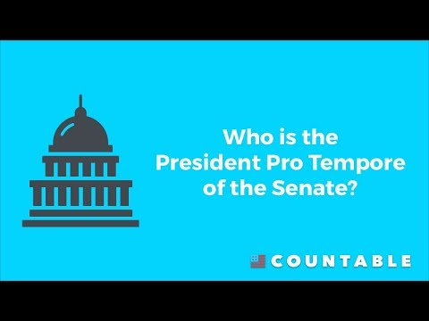 Who is the President Pro Tempore of the Senate?