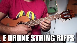 Jamming Metal Style Drone Riffs - E Minor Scale - Ukulele Riff Tutorial