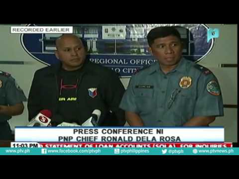 PRESS CONFERENCE NI PNP CHIEF RONALD DELA ROSA