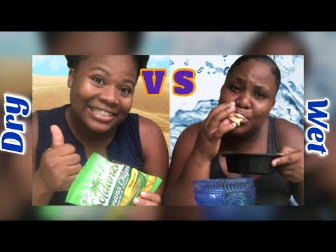DRY VS WET FOOD CHALLENGE  Ft. Chrissy Vlogs || Must Watch💧+🍪 =😂