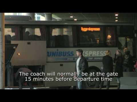 Arrival at Oslo Bus Terminal by the Torp/Rygge Airport Coach