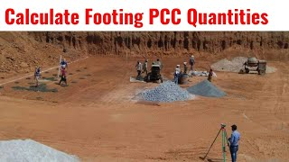 How to Calculate Volume of PCC | Footing Base | PCC Concrete Calculation | PCC Grade | 1Cum Concrete
