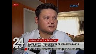 Davao City VM Paolo Duterte at Atty. Mans Carpio, pinahaharap na sa Senado