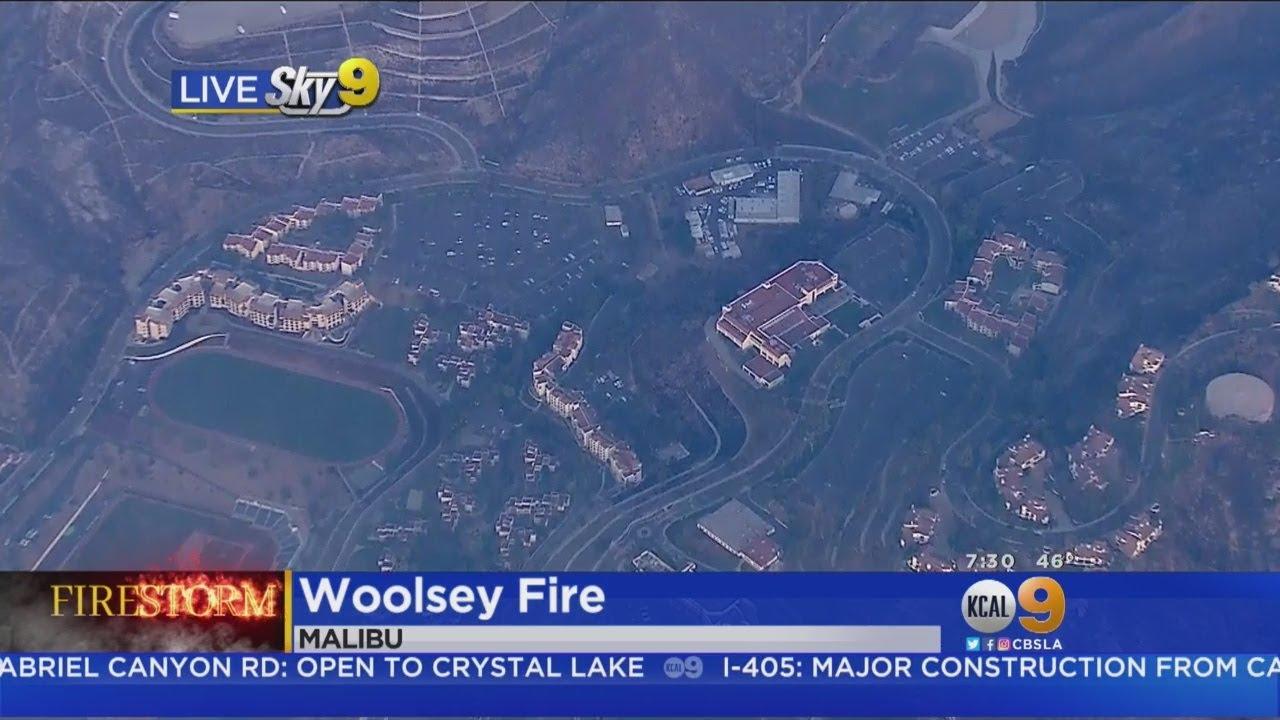 Woolsey Fire Burn Area Pepperdine University Malibu Campus Youtube