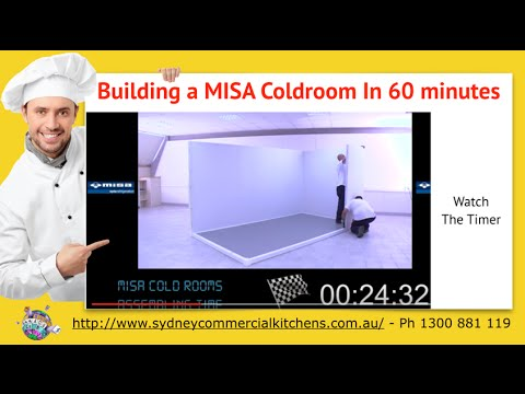 MISA COOLROOM ASSEMBLY - Coolroom built in 60 Min