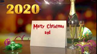 Royalty free stock footage Merry Christmas & Happy New Year 2020 Wishes HD