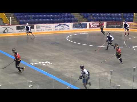 All City Hawks vs. Kamloops Bulldogs - Period 2 - 2013 BCBHA Ball Hockey Provincial BC Provincials