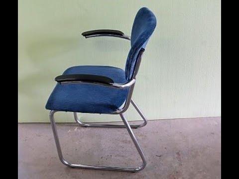 Zelf een buizenframe stoel bekleden Model Gispen-Schuitema-De Wit