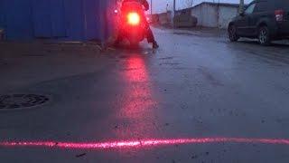 Лазерный стоп сигнал на мото HONDA X4