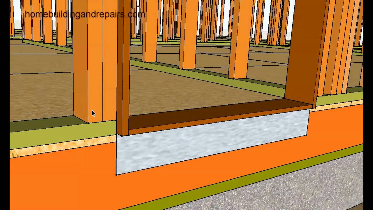 Metal Flashing Under Door Threshold For Extra Protection Home Building And Repairs Youtube