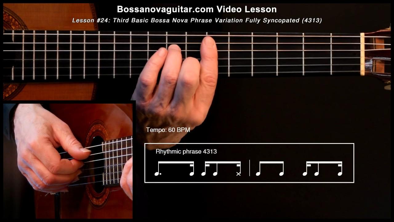 O Amor Em Paz Bossa Nova Guitar Lesson 24 Third Basic Phrase