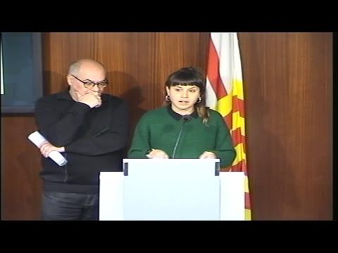 Roda de premsa per presentar els continguts de la CUP Capgirem Barcelona al Ple de febrer de 2019