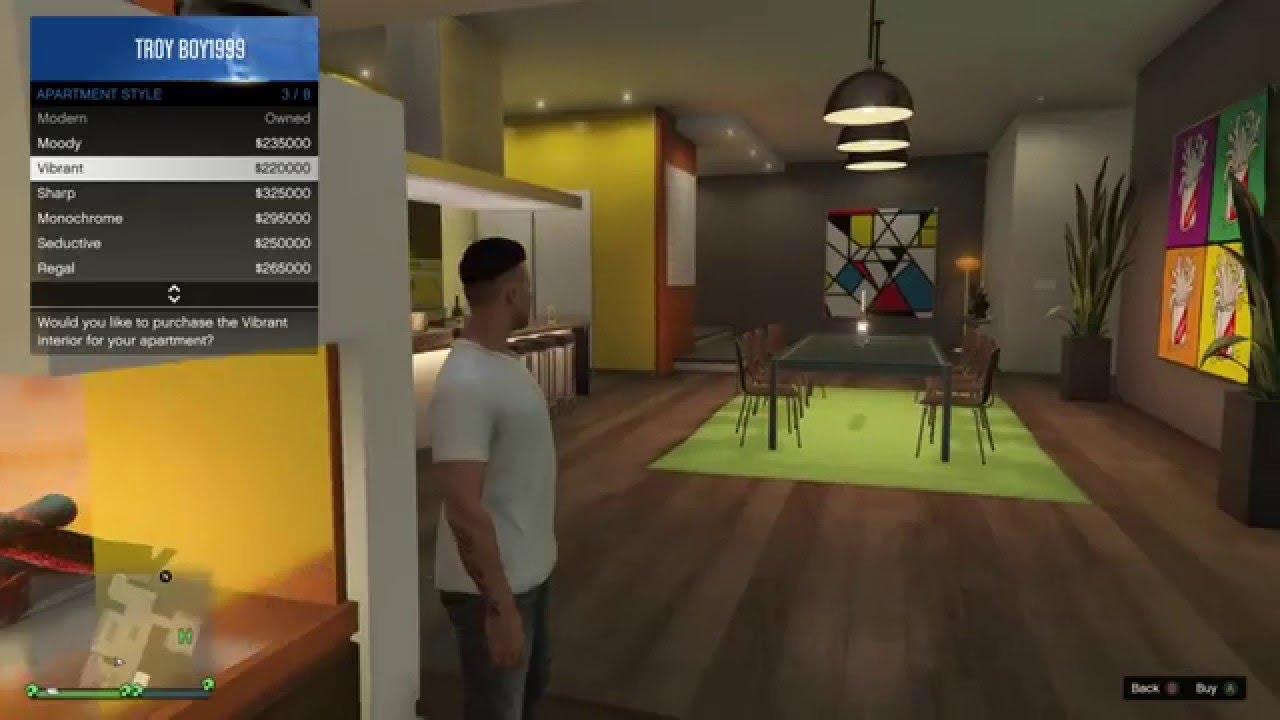 Grand Theft Auto Online: All Custom Apartments Interiors ...
