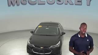 183968 New 2018 Chevrolet Cruze Black Sedan Test Drive, Review, For Sale -