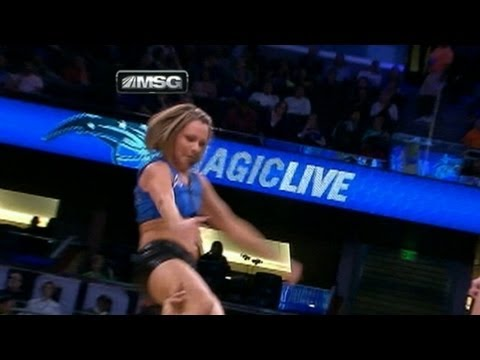 NBA Cheerleader Falls on Her Head During Orlando Magic Game: Caught on Tape