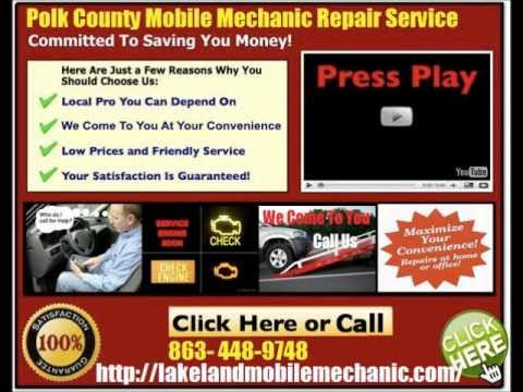 Lakeland Florida Mobile auto Mechanic car repair Service 863-448-9748