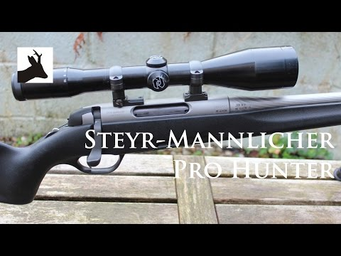 Steyr Mannlicher Pro Hunter rifle and Zeiss Diavari 2.5-10x52 scope and A-tec sound moderator.