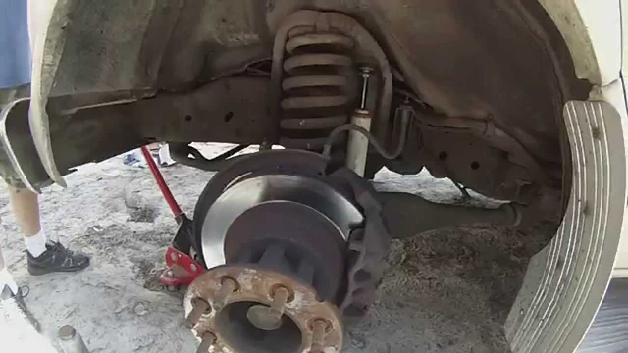 hight resolution of replacing rotors on a rv
