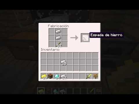 Como hacer una espada de oro hierro y diamante youtube for Como hacer una pileta de fibra