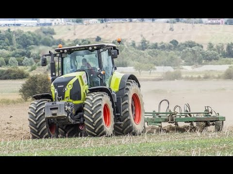 Orba 2015 - John Deere 8530 & Claas Axion 850 & PHX - motor sound