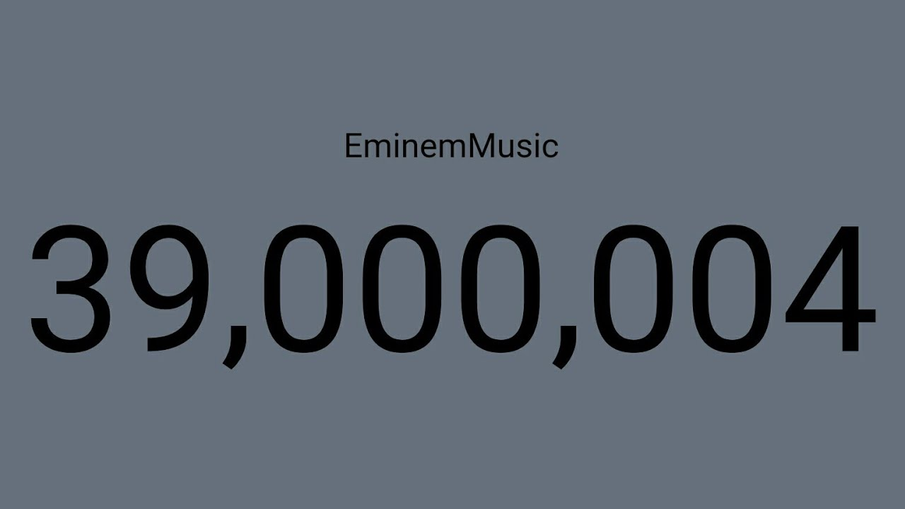 EminemMusic Reach 39 Million Subscribers