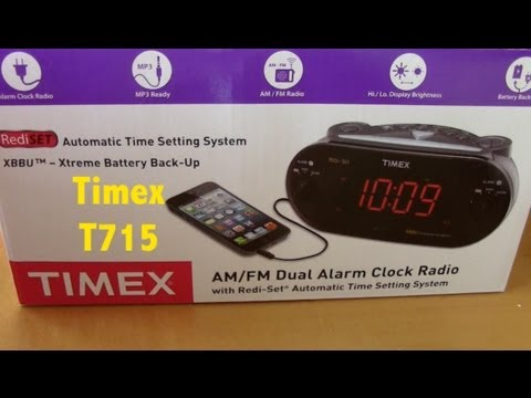Timex Alarm Clock AM FM Dual Radio MP3 Linein Ready Review Quick Look