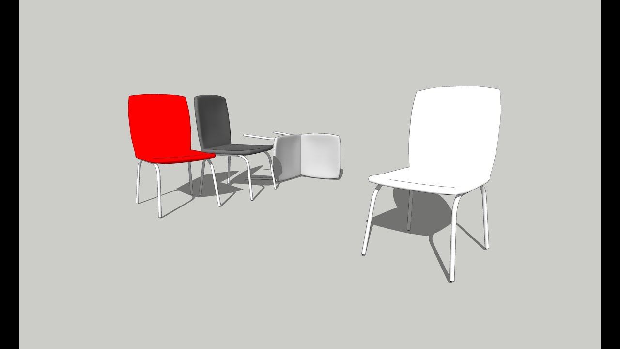 chair design sketchup oxo seedling high replacement cover how to draw on interior part 03 youtube