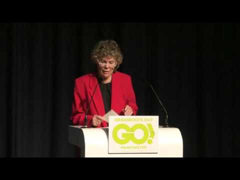 Labour MP and founding Member of Grassroots Out, Kate Hoey speaks at the Manchester event