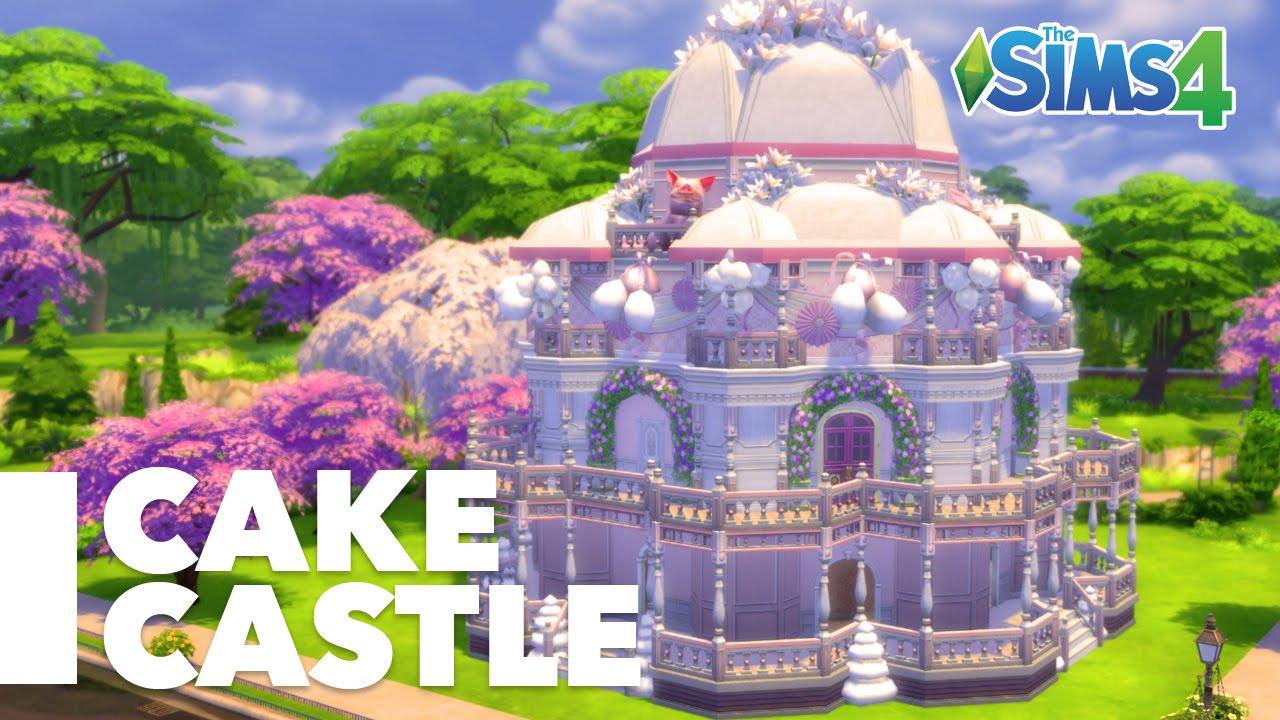 Sims 4 Speed Build Birthday Cake Castle YouTube