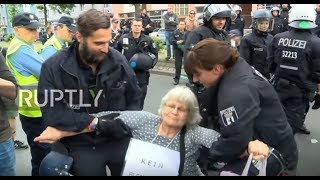 Germany: Anti-immigration youth movement protests in Berlin