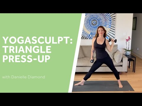 Yoga Sculpt: Triangle Press-Up
