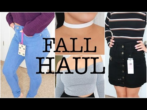HUGE FALL TRY ON CLOTHING HAUL | Featuring: BOOHOO