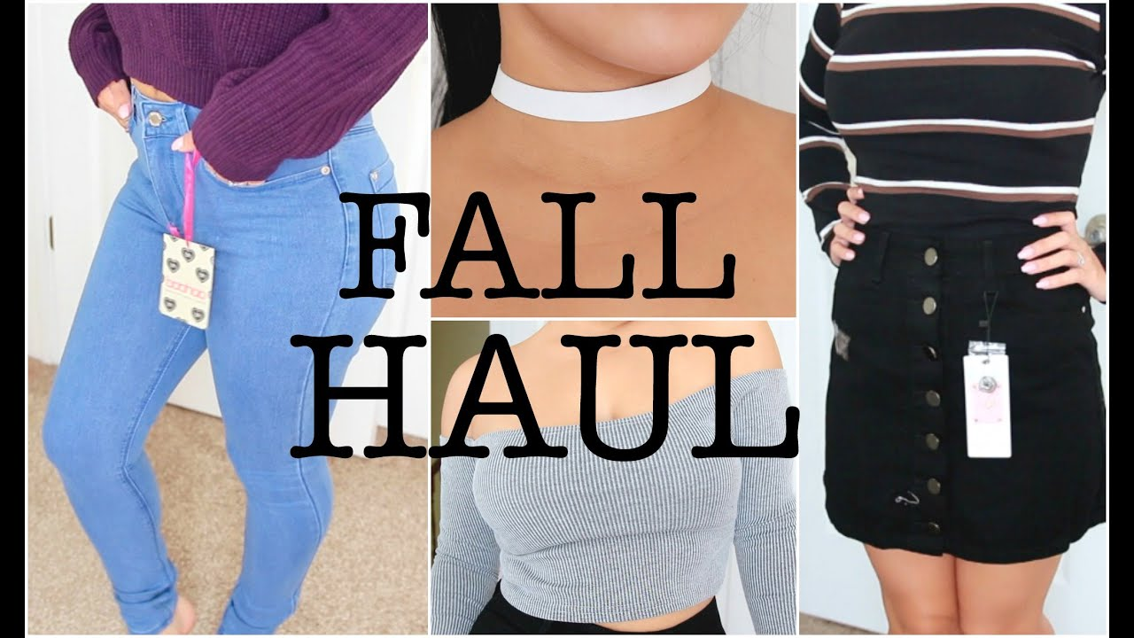 d55177e5f49 HUGE FALL TRY ON CLOTHING HAUL   Featuring: BOOHOO   JuicyJas - YouTube