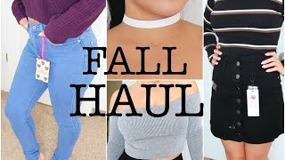 HUGE FALL TRY ON CLOTHING HAUL | Featuring: BOOHOO | JuicyJas