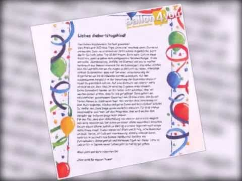 Geburtstagsbrief - lustig1 Art.Nr. BR001 - YouTube