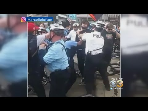 2 Philadelphia Police Officers Injured During Center City Protest