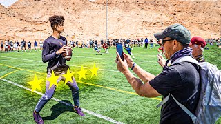 THIS 5-STAR QB WENT OFF AS SOON AS D-1 RECRUITS SHOW UP! (7ON7 TOURNAMENT PT. 1)