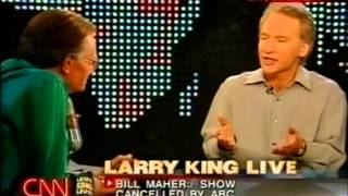 """Bill Maher on Larry King Live after """"Politically Incorrect"""" is cancelled by ABC (2002)"""