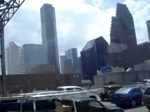 Arriving in Houston, Texas, by bus