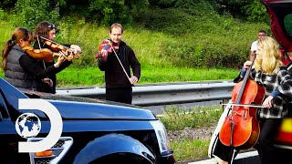String Quartet Make A Traffic Jam More Bearable | Wheels That Fail